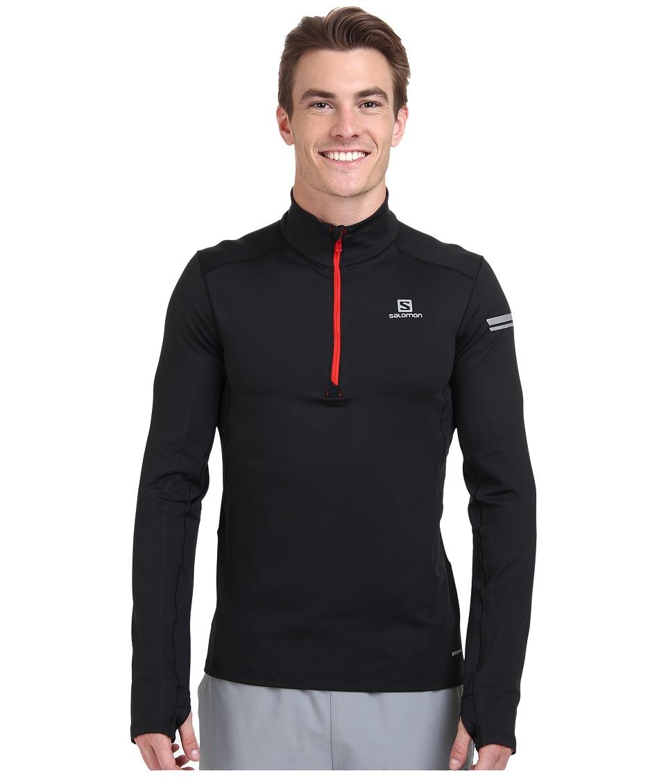 Salomon - Agile 1/2 Zip Mid (Black) Men's Sweatshirt