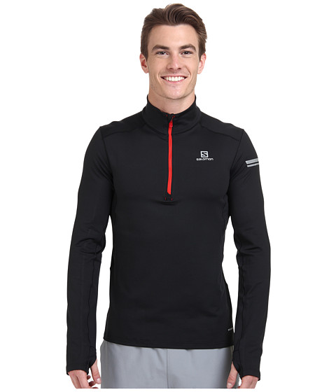 Salomon - Agile 1/2 Zip Mid (Black) Men's Sweatshirt