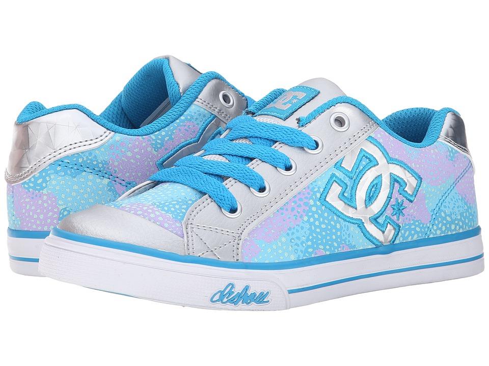 DC Kids - Chelsea TX SE (Big Kid) (Light Grey/Purple) Girls Shoes