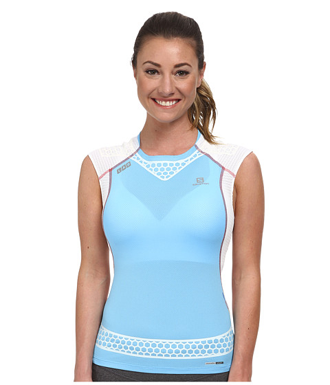 Salomon - S-Lab Exo Tank Top (Blue Line/White) Women