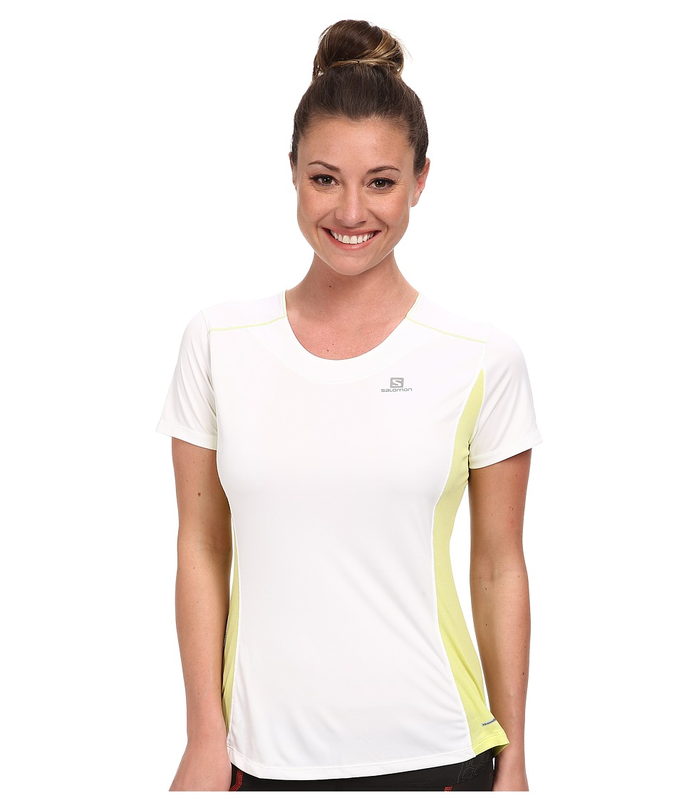 Salomon - Agile S/S Tee (White/Flashy-X) Women's T Shirt
