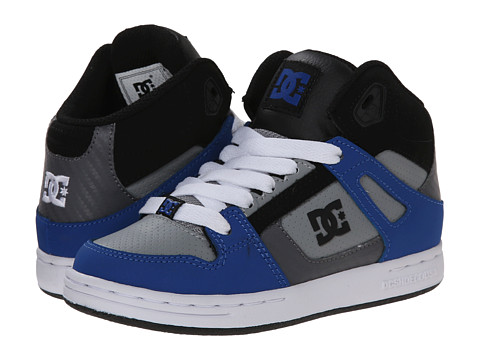 DC Kids - Rebound (Big Kid) (Blue/Black/Grey) Boys Shoes
