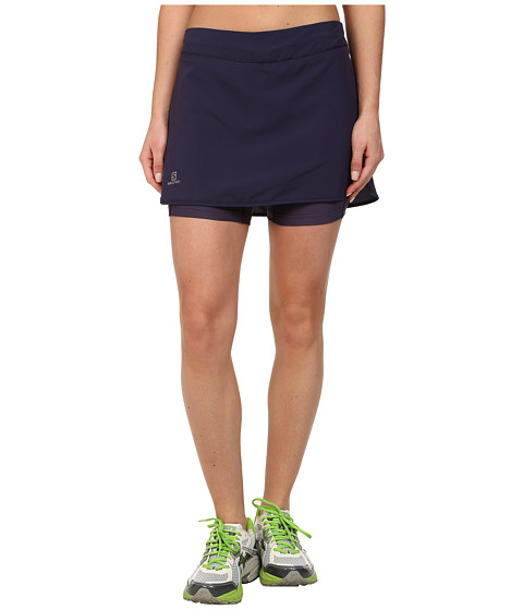 Salomon - Agile Skort (Nightshade Grey/Artist Grey-X) Women