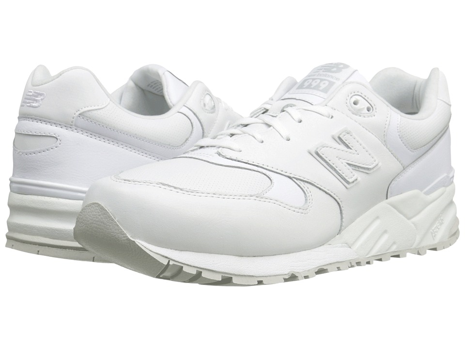 New Balance Classics - ML999 (White Leather) Men's Classic Shoes