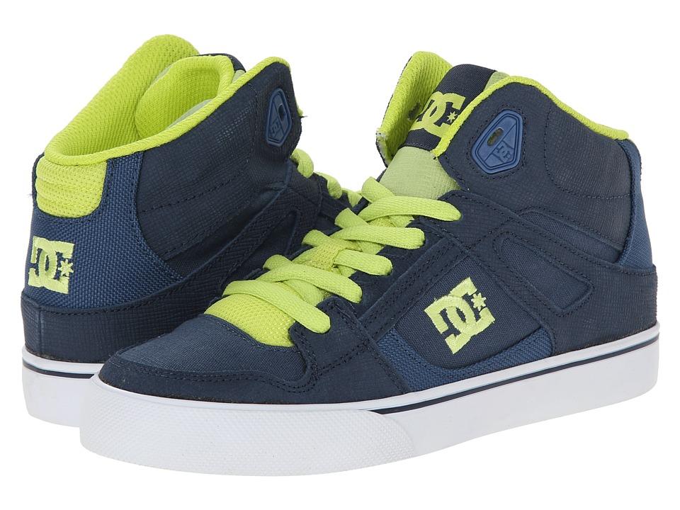 DC Kids - Spartan High SE (Big Kid) (Navy) Boys Shoes