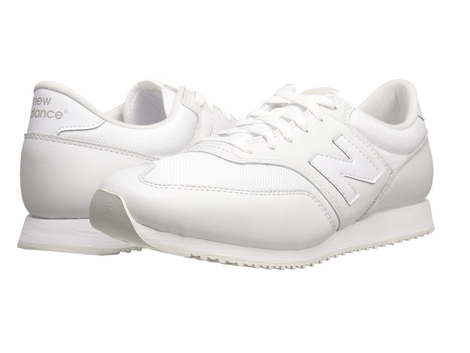 New Balance Classics - CM620 (White/Leather/Mesh) Men's Classic Shoes