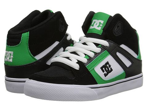 DC Kids - Spartan High (Little Kid) (Green/Black) Boys Shoes