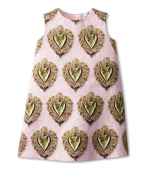 Dolce & Gabbana - Sacred Heart Brocade Dress (Toddler/Little Kids) (Pink Multi) Women