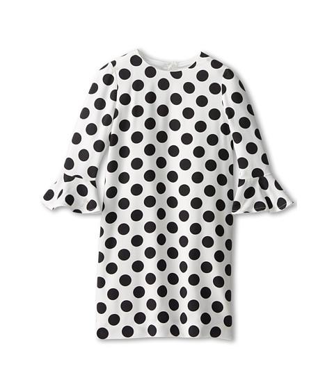 Dolce & Gabbana - Polka Dot Dress (Toddler/Little Kids) (White/Black) Women