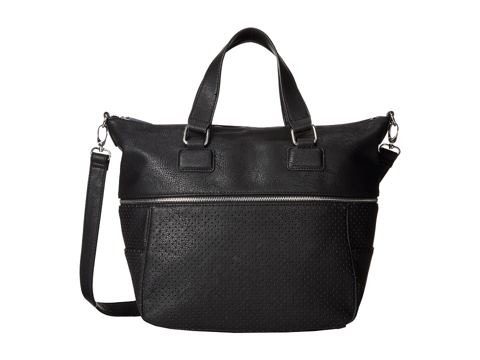BCBGeneration - The Zipper Tribute Tote (Black 1) Tote Handbags