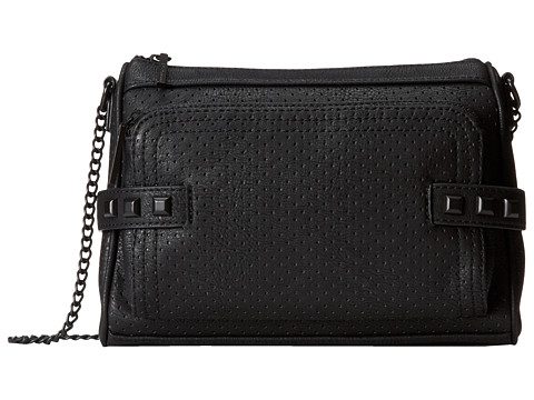 BCBGeneration - The Perforated Make A Statement Bag (Black) Cross Body Handbags