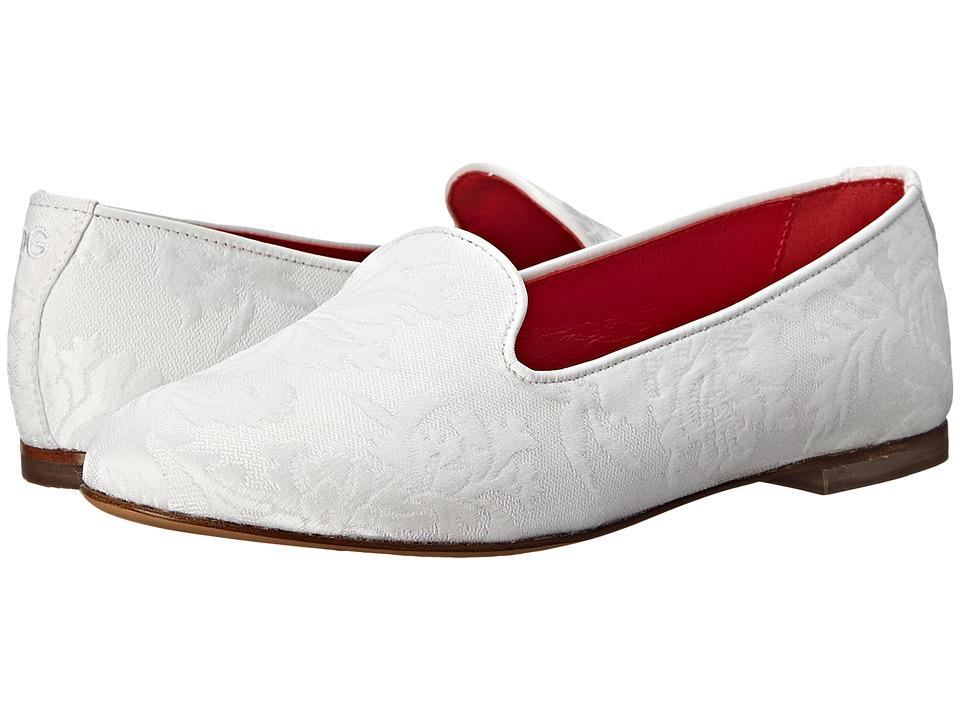 Dolce & Gabbana Kids - Jacquard Ballerina (Little Kid/Big Kid) (White) Girl's Shoes