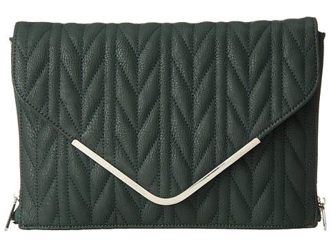 BCBGeneration - The Quilted Higher Maintenance Clutch (Dark Evergreen) Clutch Handbags