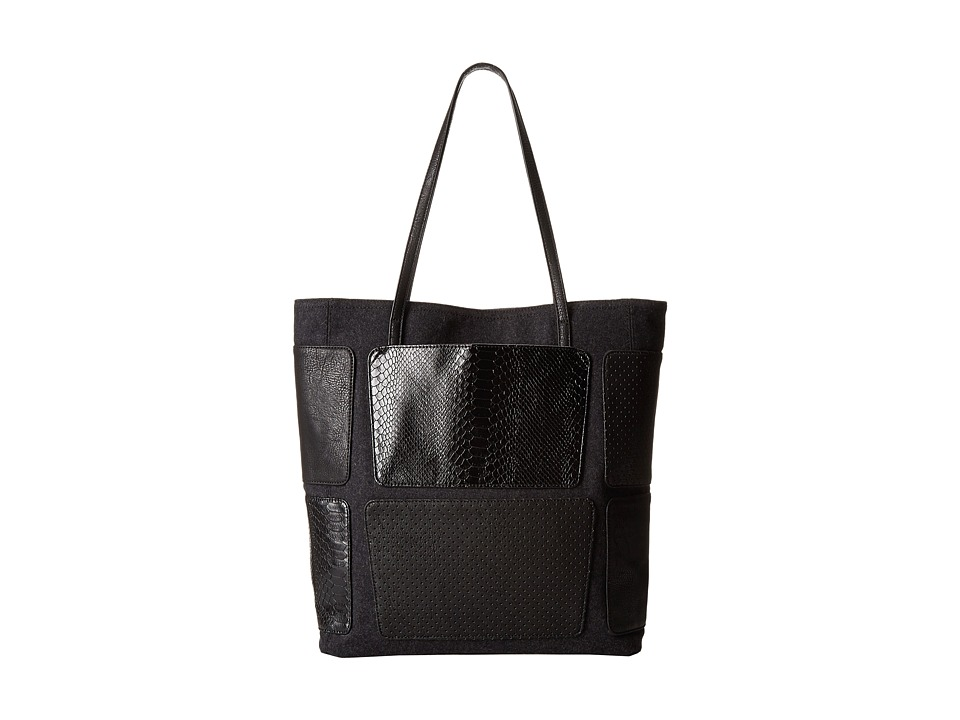 BCBGeneration - The Patchwork Tote (Black Combo) Tote Handbags