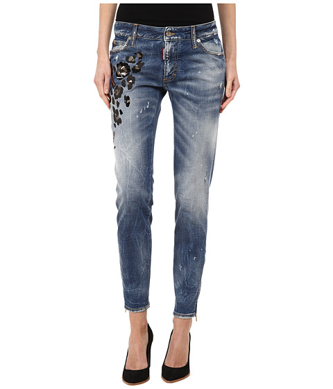 DSQUARED2 - Medium Waist Super Slim Jean (Blue) Women's Jeans