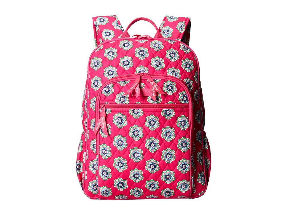 Vera Bradley - Campus Backpack (Pink Swirls Flowers) Backpack Bags