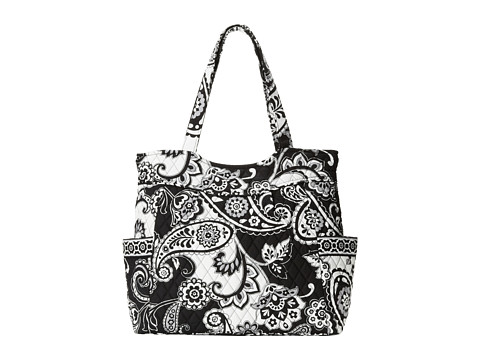 Vera Bradley - Pleated Tote (Midnight Paisley) Tote Handbags
