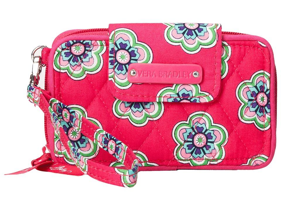 Vera Bradley - Smartphone Wristlet 2.0 (Pink Swirls Flowers) Wristlet Handbags