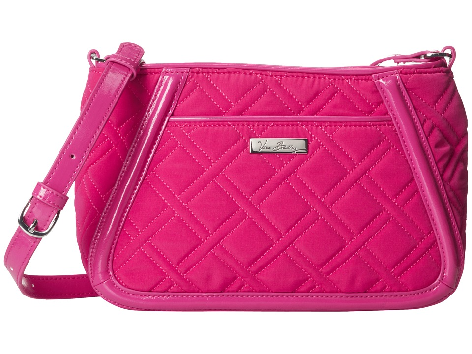 Vera Bradley - Trimmed Trapeze Crossbody (Fuchsia) Cross Body Handbags