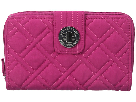 Vera Bradley - Turn Lock Wallet (Fuchsia) Wallet Handbags