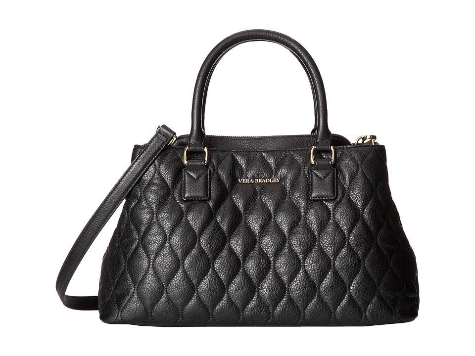 Vera Bradley - Quilted Emma Satchel (Black) Satchel Handbags