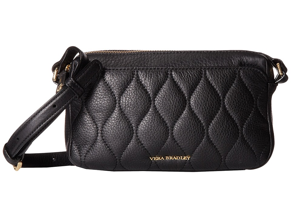 Vera Bradley - Quilted Sydney Crossbody (Black) Cross Body Handbags