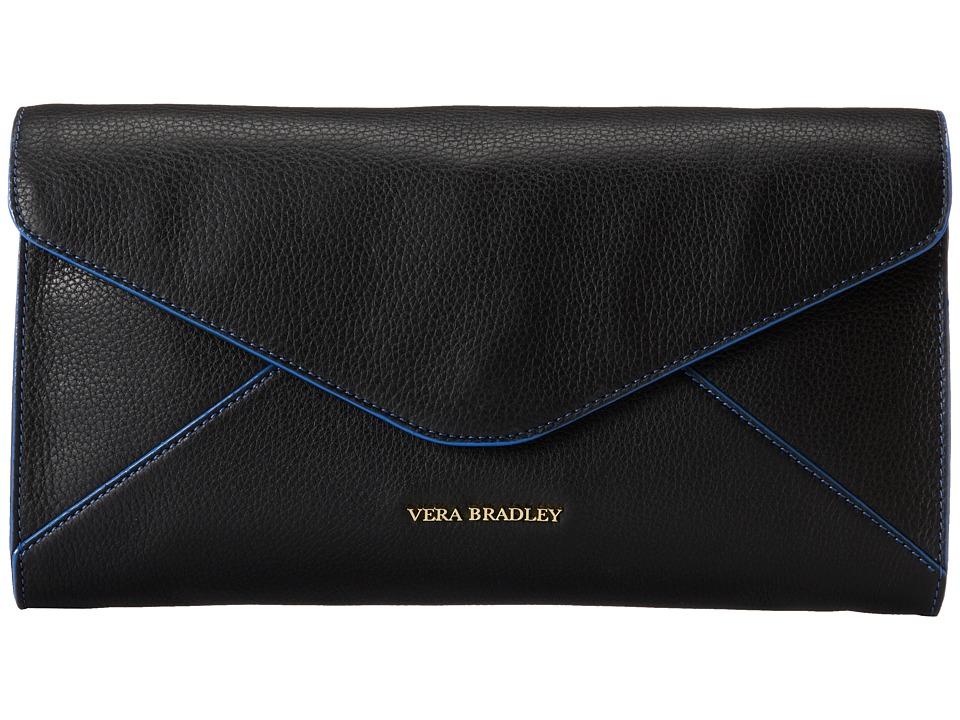 Vera Bradley - Harper Clutch (Black) Clutch Handbags