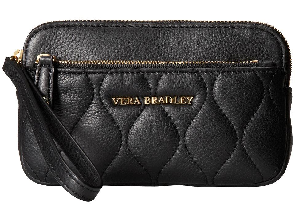 Vera Bradley - Quilted Sophie Wristlet (Black) Wristlet Handbags
