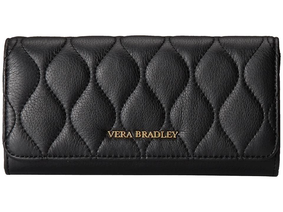 Vera Bradley - Quilted Audrey Wallet (Black) Wallet Handbags