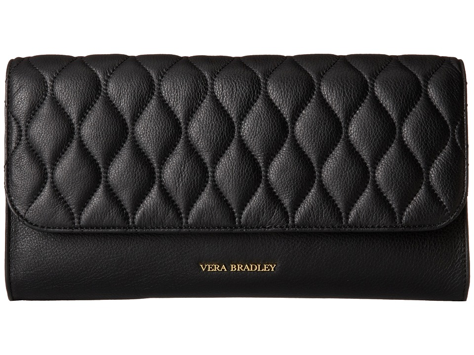 Vera Bradley - Quilted Harper Clutch (Black) Clutch Handbags