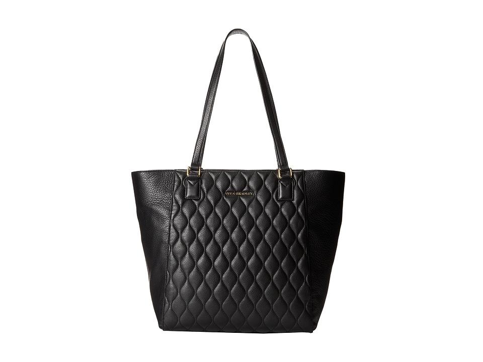 Vera Bradley - Quilted Ella Tote (Black) Tote Handbags