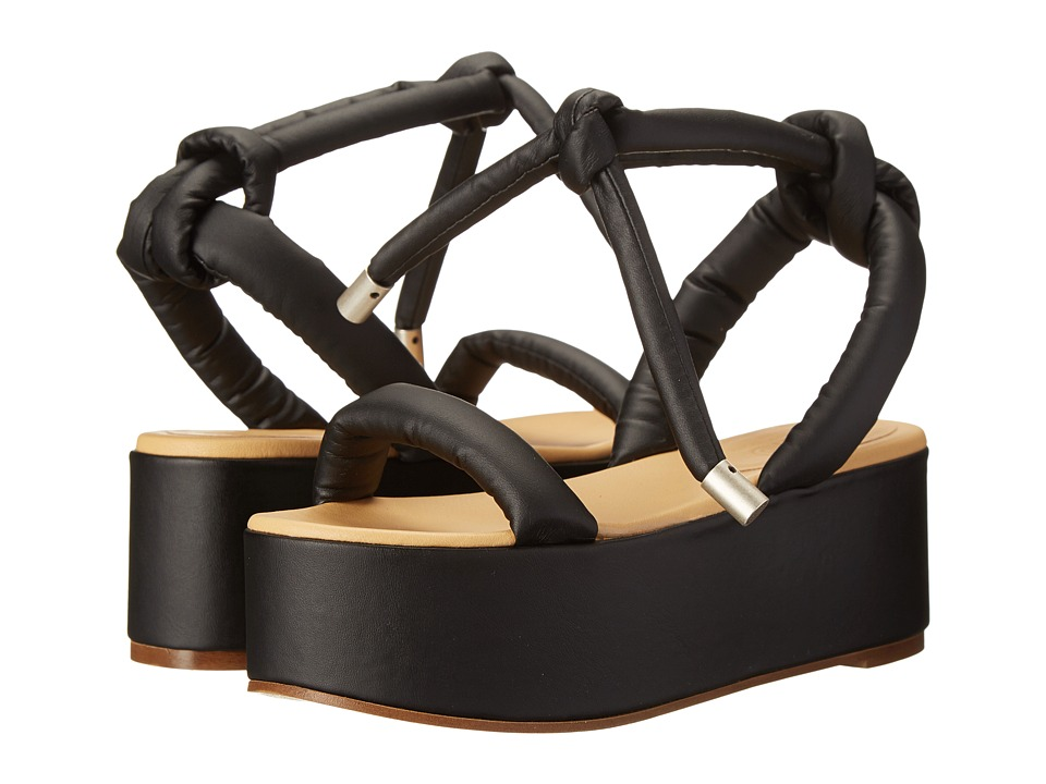 MM6 Maison Margiela - Puff Strap Platform Sandals (Black) Women's Sandals