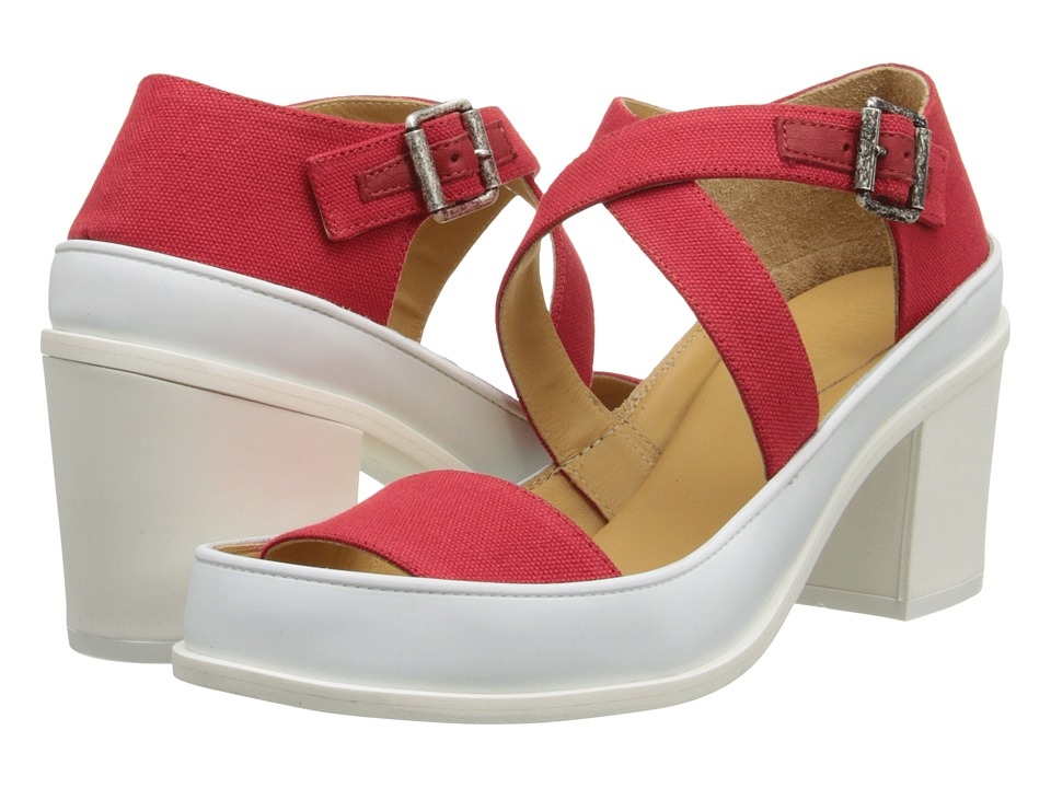 MM6 Maison Margiela - Chunky Suede Sandals (Red/White) Women