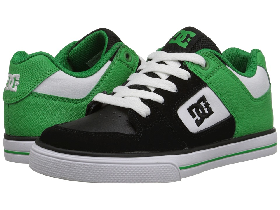 DC Kids - Pure (Little Kid) (Black/Green/White) Boys Shoes