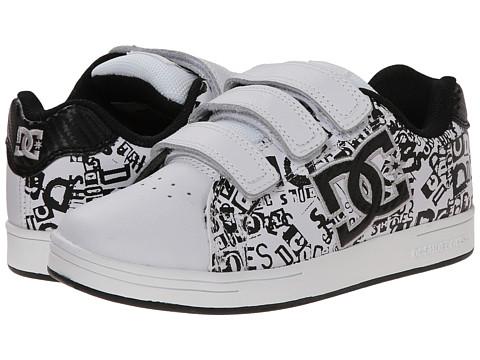DC Kids - Character V (Little Kid) (White/Black/Print) Boys Shoes