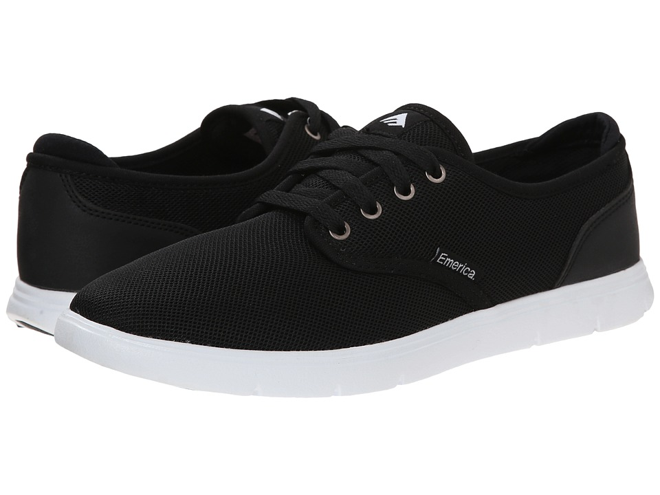 Emerica - Wino Cruiser LT (Black/White) Men's Skate Shoes