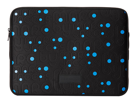 Marc by Marc Jacobs - MBMJ Logo Embossed Neoprene 13 Computer Case (Black) Computer Bags