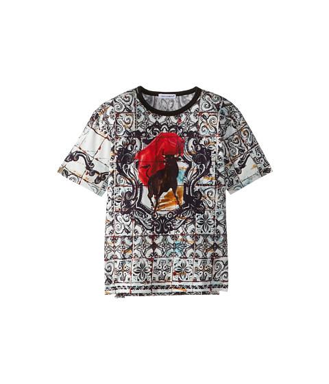 Dolce & Gabbana - Mosiac S/S Tee (Toddler/Little Kids) (Black Multi) Men
