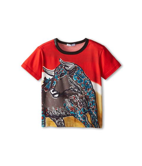 Dolce & Gabbana - Toro S/S Tee (Toddler/Little Kids) (Red Multi) Men