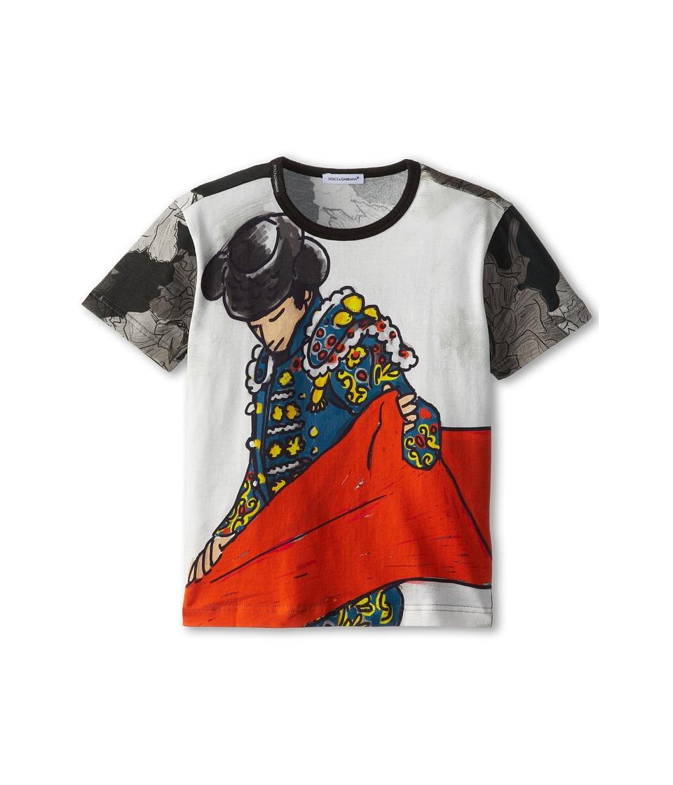 Dolce & Gabbana - Toreador S/S Tee (Toddler/Little Kids) (Black Multi) Men's T Shirt