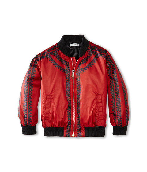 Dolce & Gabbana - Toro/Trimmed Jacket (Toddler/Little Kids) (Red Multi) Men