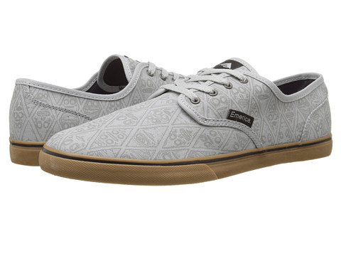 Emerica - Wino Cruiser x FOS (Grey/Gum) Men's Skate Shoes