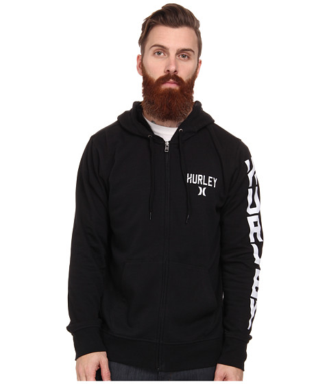 Hurley - Stadium Boss 220 Fleece Zip (Black) Men's Fleece