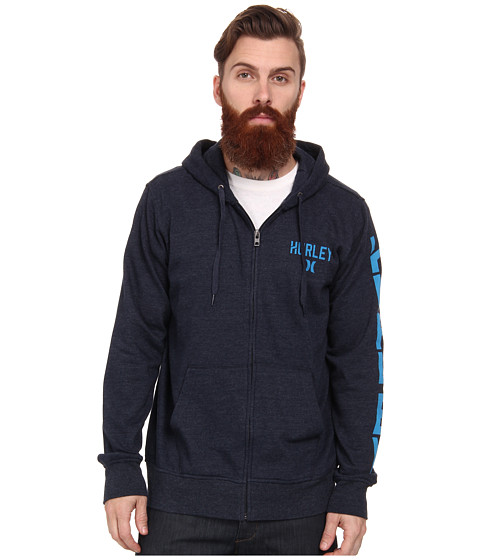 Hurley - Stadium Boss 220 Fleece Zip (Heather Navy) Men's Fleece