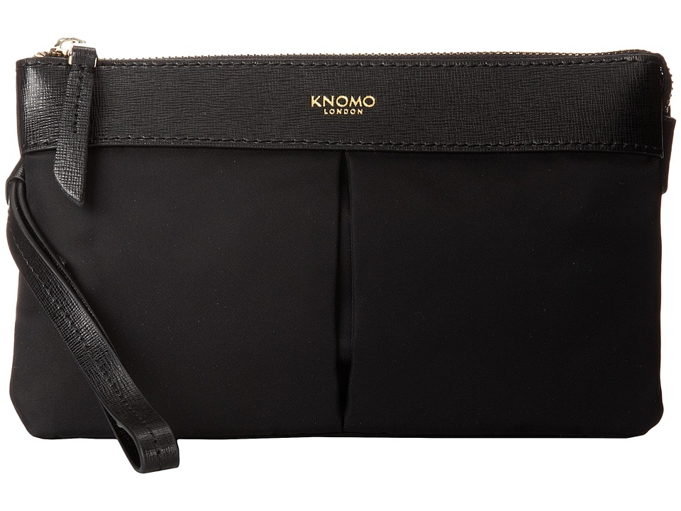 KNOMO London - Dering Smartphone Charge Pouch (Black) Luggage