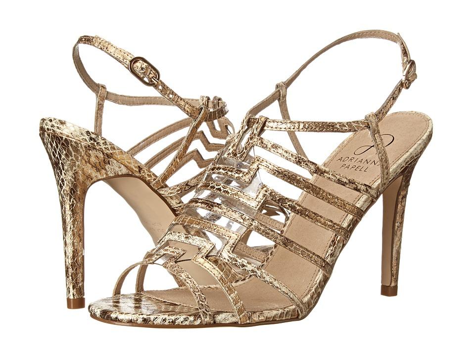 Adrianna Papell - Emanuelle (Gold Tibet Snake) High Heels