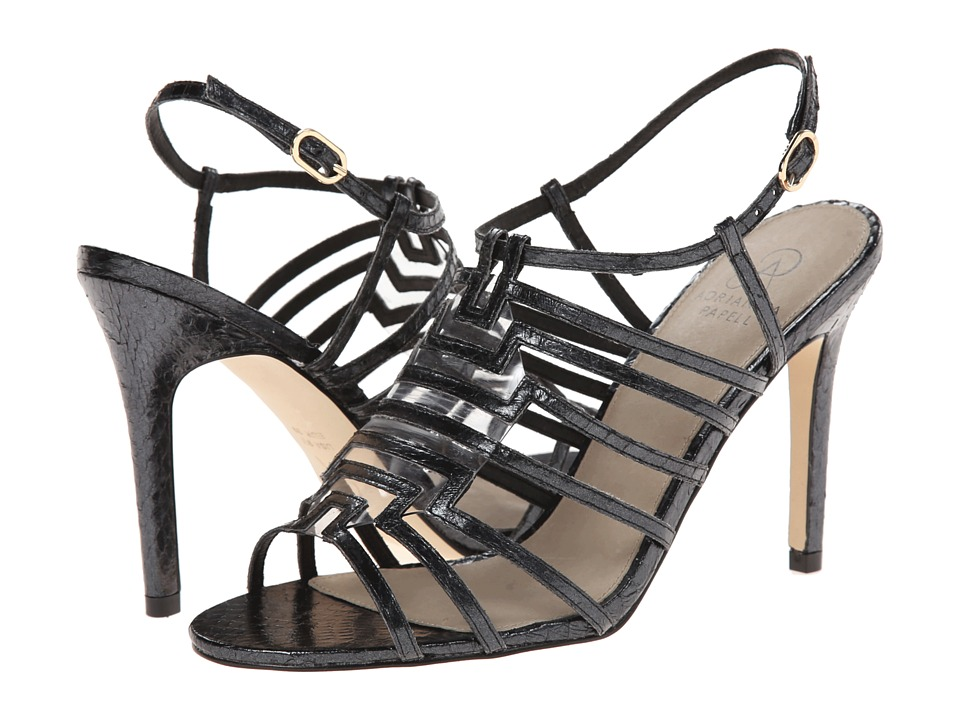 Adrianna Papell - Emanuelle (Black Pearl Tibet Snake) High Heels