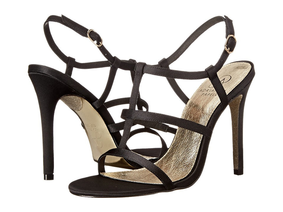 Adrianna Papell - Dalton (Black Satin) High Heels