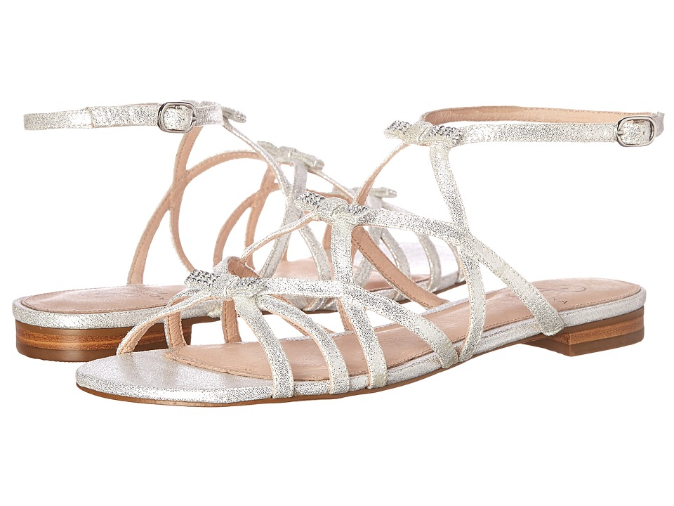 Adrianna Papell - Lane (Silver Mosaic Lame) Women's Dress Sandals