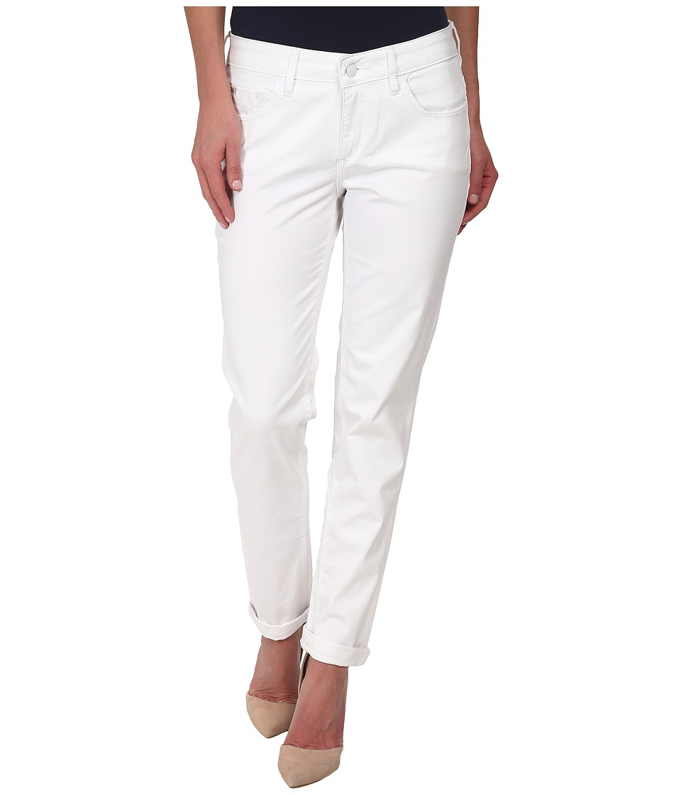 Christopher Blue - Diane Roll Boyfriend Carmel Twill (White) Women's Casual Pants
